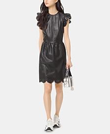 Michael Michael Kors Faux-Leather Laser Cut Dress