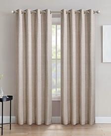 "Crescent Double Layer Total Blackout Grommet Single Curtain Panel 52""x84"""