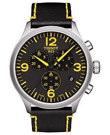 Tissot Men's Swiss Chronograph ChronoXL Classic Tour De France Edition Black Leather Strap Watch 45mm