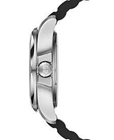 Victorinox Swiss Army Men's I.N.O.X. Black Rubber Strap Watch 43mm 241682.1
