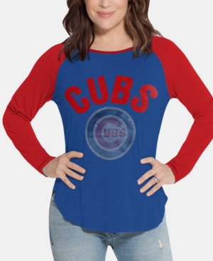 Touch by Alyssa Milano Women's Chicago Cubs Long Sleeve Touch T-Shirt