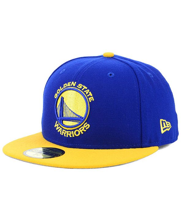 New Era Golden State Warriors Basic 2 Tone 59FIFTY Fitted Cap