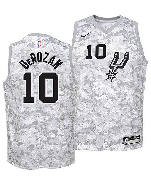1a1e9b40b8d Nike DeMar DeRozan San Antonio Spurs Earned Edition Swingman Jersey ...
