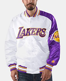 G-III Sports Men's Los Angeles Lakers Dugout Opening Day Satin Jacket