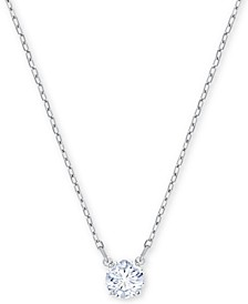 "Silver-Tone Crystal Pendant Necklace, 14-4/5"" + 4"" extender"