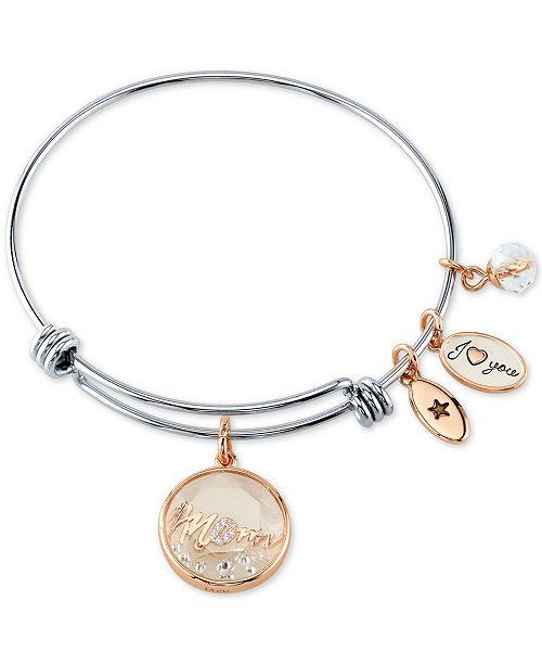 Mom Shaker Charm Bangle Bracelet