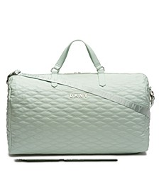 CLOSEOUT! Allure Quilted Barrel Large Duffel, Created for Macy's