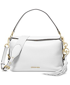 MICHAEL Michael Kors Brooke Pebble Leather Satchel