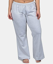 Soffee Plus Size Open Bottom Dance Pants