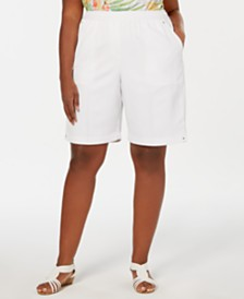 Alfred Dunner Plus Size Classic Pull-On Shorts