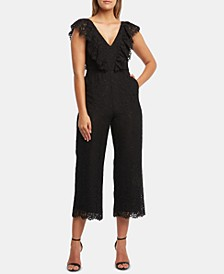 Malia Cropped Lace Jumpsuit