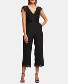 Malia Cropped Lace Jumpsuit