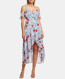 Bardot Cold-Shoulder High-Low Dress