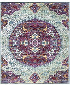 Sutton Purple and Turquoise 8' x 10' Area Rug