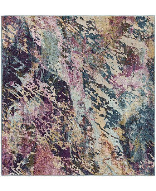 Safavieh Savannah Blue and Gray 7' x 7' Square Area Rug