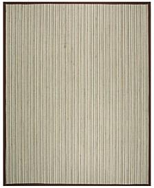 Natural Fiber Teal and Brown 9' x 12' Sisal Weave Rug