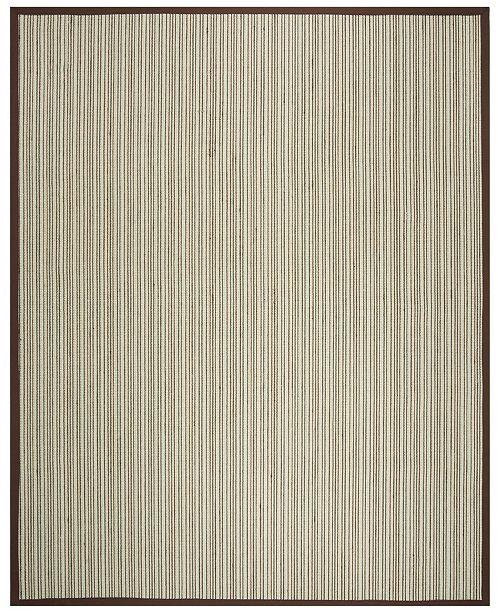 Safavieh Natural Fiber Teal and Brown 9' x 12' Sisal Weave Area Rug