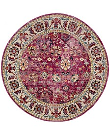 Savannah Violet and Gray 7' x 7' Round Area Rug