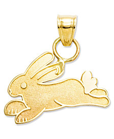 14k Gold Charm, Rabbit Charm