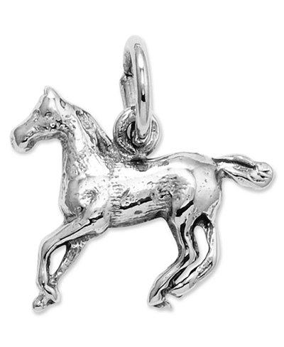 14k White Gold Charm, Horse Charm