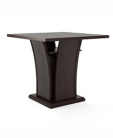 CorLiving Counter Height Dining Table with Curved Base