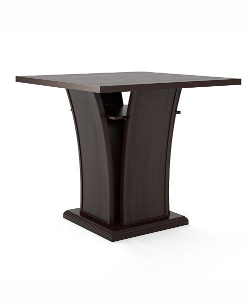 Corliving Distribution CorLiving Counter Height Dining Table with Curved Base