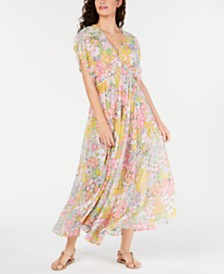 kate spade new york Floral-Dot Cover-Up Dress