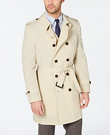 Men's Classic-Fit Stretch Water-Repellent Belted Double-Breasted Trench Coat