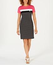 a1134113f99f Karen Scott Striped T-Shirt Dress