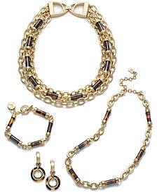 Lauren Ralph Lauren Gold-Tone Tortoise-Look Collection