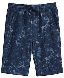 Big Boys Tie-Dye Knit Shorts, Created for Macy's