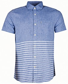 Men's Rowlock Slim-Fit Blocked Stripe Shirt