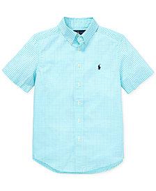 Polo Ralph Lauren Big Boys Gingham Cotton Poplin Shirt