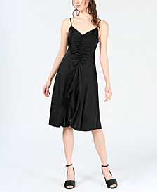 Bar III Ruffle-Front A-Line Dress, Created for Macy's