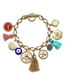 Capwell & Co. Charm Tassel Bracelet