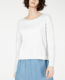 Eileen Fisher Organic Sweatshirt, Regular & Petite, Created for Macy's