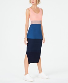 Bar III Colorblocked Sweater Dress, Created for Macy's