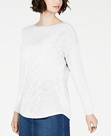 I.N.C. Petite Pointelle Sweater, Created for Macy's