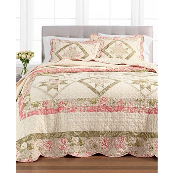 Martha Stewart Collection Star Patchwork Twin Bedspread