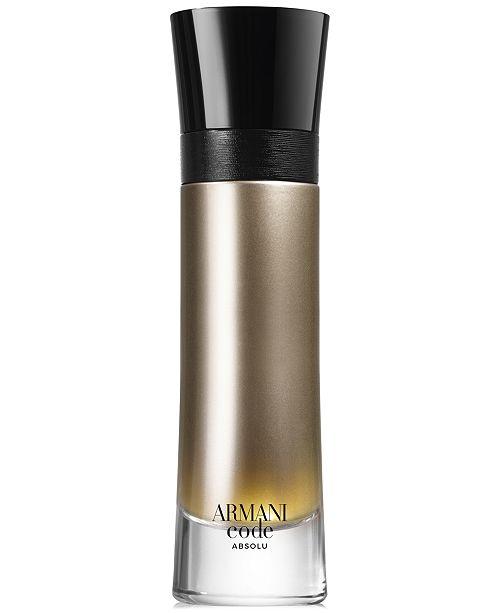 Armani Giorgio Mens Armani Code Absolu Eau De Parfum Spray 37 Oz