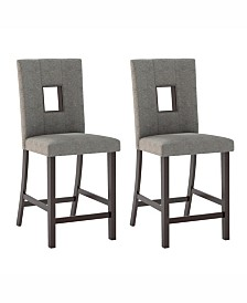 Corliving Sand Fabric Counter Height Dining Chairs, Set of 2