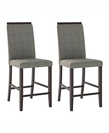 Fabric Counter Height Dining Chairs, Set of 2
