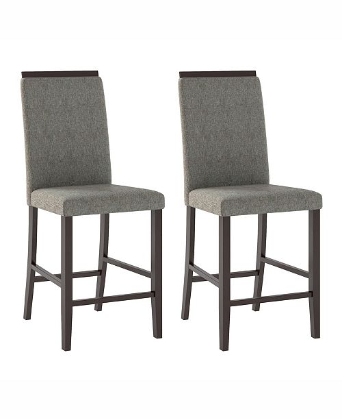 Corliving Distribution Corliving Fabric Counter Height Dining Chairs, Set of 2
