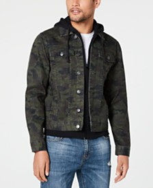 American Rag Men's Camo Trucker Jacket, Created for Macy's