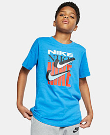Nike Big Boys Swoosh Graphic Cotton T-Shirt
