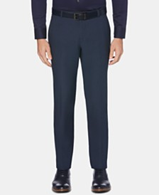 Perry Ellis Men's Portfolio Extra-Slim Fit Performance Stretch Heather Non-Iron Dress Pants