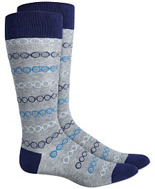 AlfaTech by Alfani Men's Patterned Socks, Created for Macy's