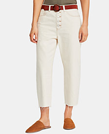 Free People Barrel Button-Fly Jeans