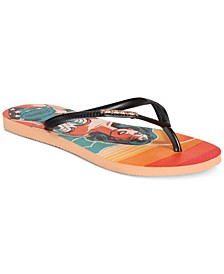 Women's Slim Wonder Woman Flip-Flop Sandals