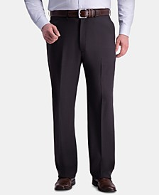 Men's Big & Tall Premium Comfort Stretch Classic-Fit Solid Flat Front Dress Pants